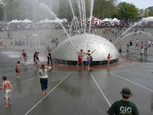 Seattle Center - International Fountain 12