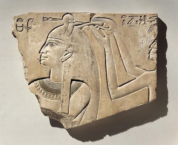 Relief of Queen Neferu Having Her Hair Done