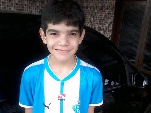 Eduardo de Souza Cordeiro, 12 anos, morreu após ser espancado na escola, em Belém.  (Foto: Divulgação/ Arquivo Pessoal)
