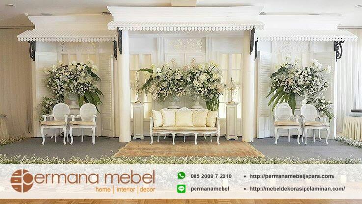 dekorasi pernikahan karet betawi modern