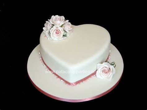 Pat a Cake Parties: Single Tier Wedding Cake