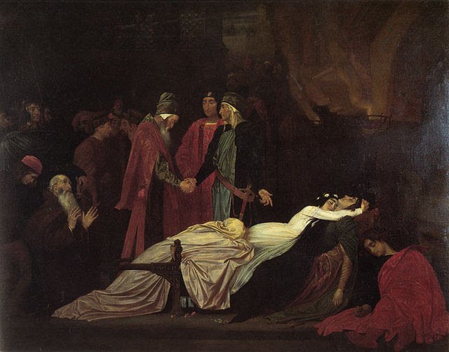 Frederick Leighton - The Reconciliation of the Montagues and Capulets over the Dead Bodies of Romeo and Juliet