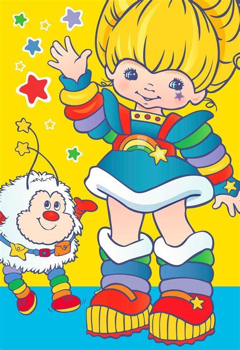 Rainbow Brite Dress Up With Stickers Card for Kid