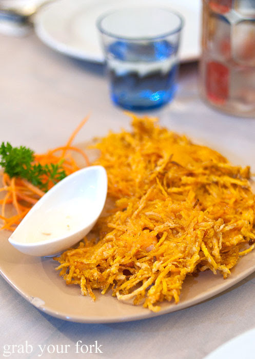 okoy sweet potato fritters at lamesa phillipine cuisine haymarket chinatown