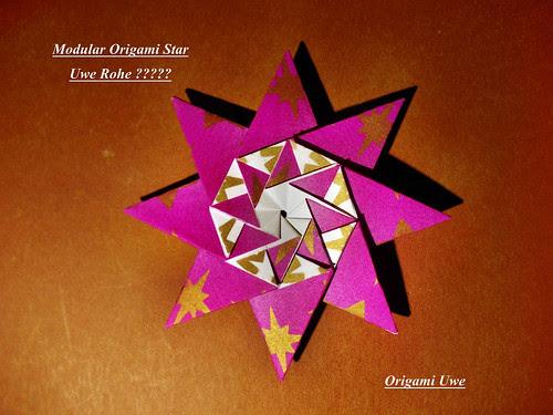 Modular Origami Star by UR Fleurogami