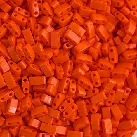 HTL0406 Miyuki -  Half Tila - Opaque Orange