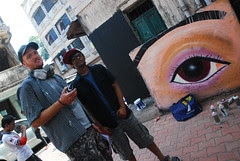 Alex And Siddesh And the Cosmic Eye at Bandra Bazar Road by firoze shakir photographerno1