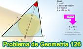 Problema de Geometría 126. Triangulo, Incentro, Bisectriz Interior, Proporciones.