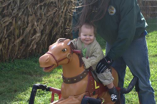 I'm on a pony!