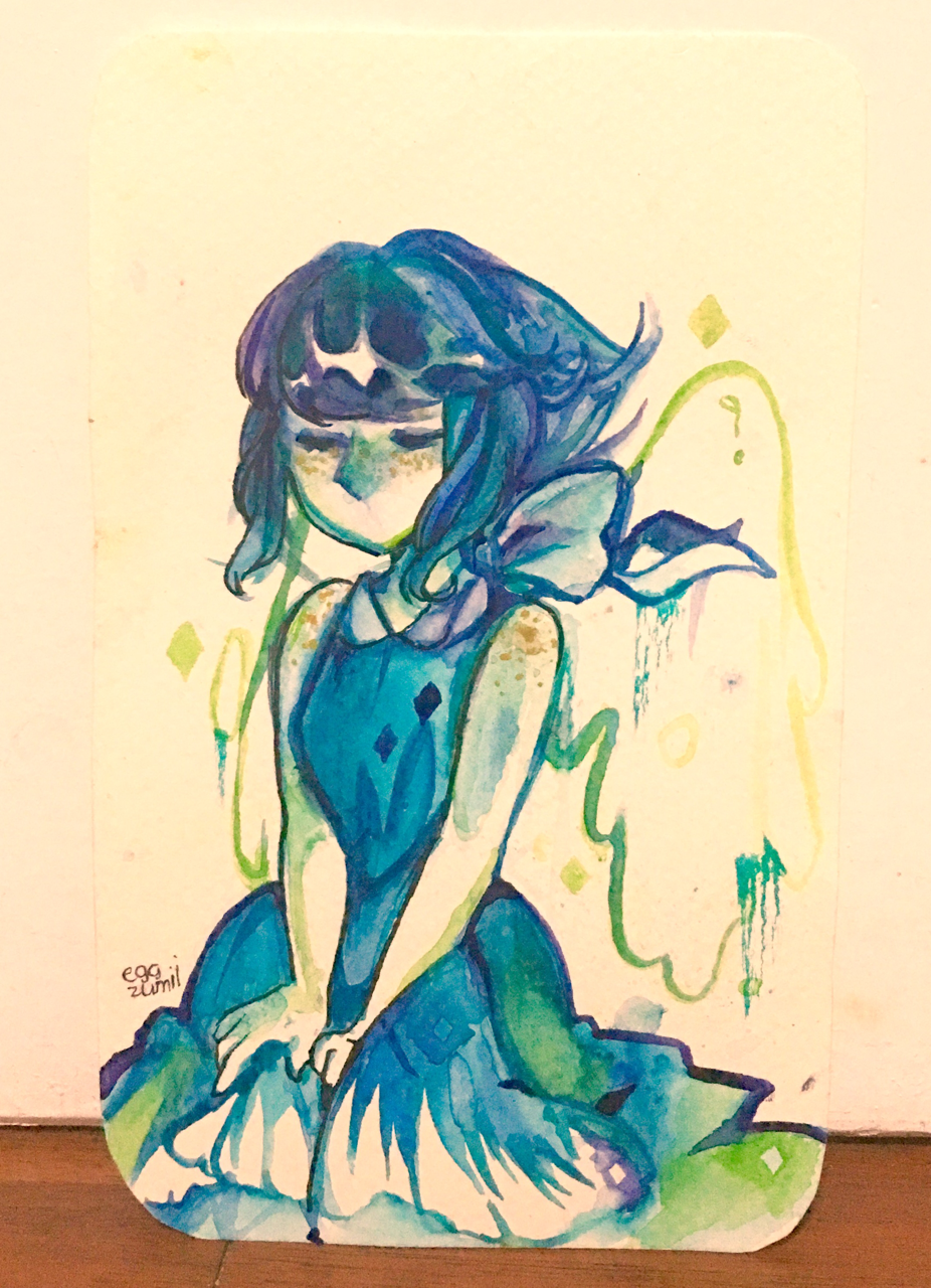a watercolor lazuli without reference aha ;;