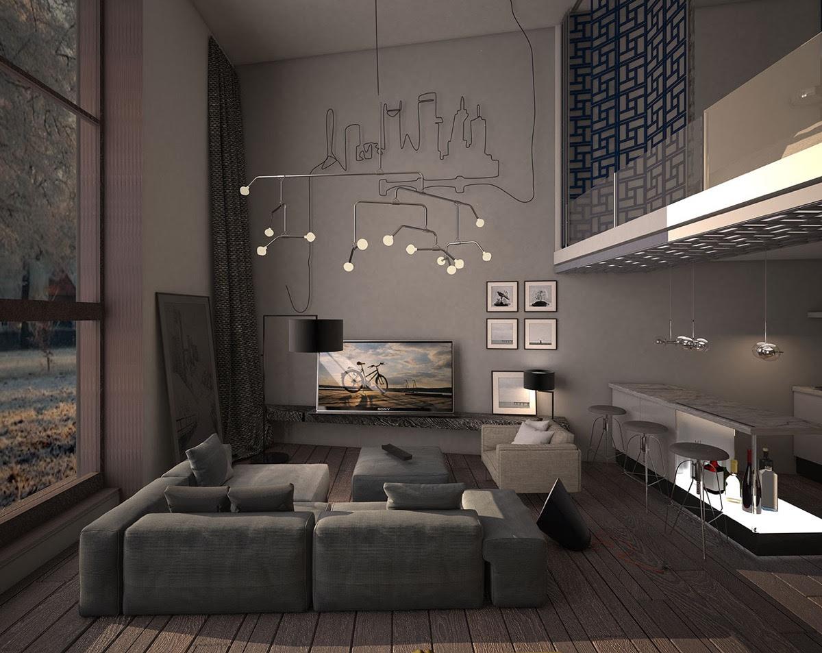 15 Dark Living Room Decorating Ideas - RooHome | Designs ...