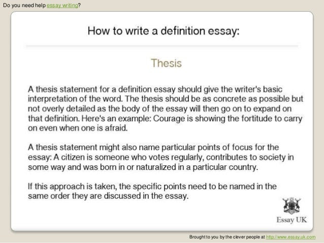 how to write an introduction for a definition essay