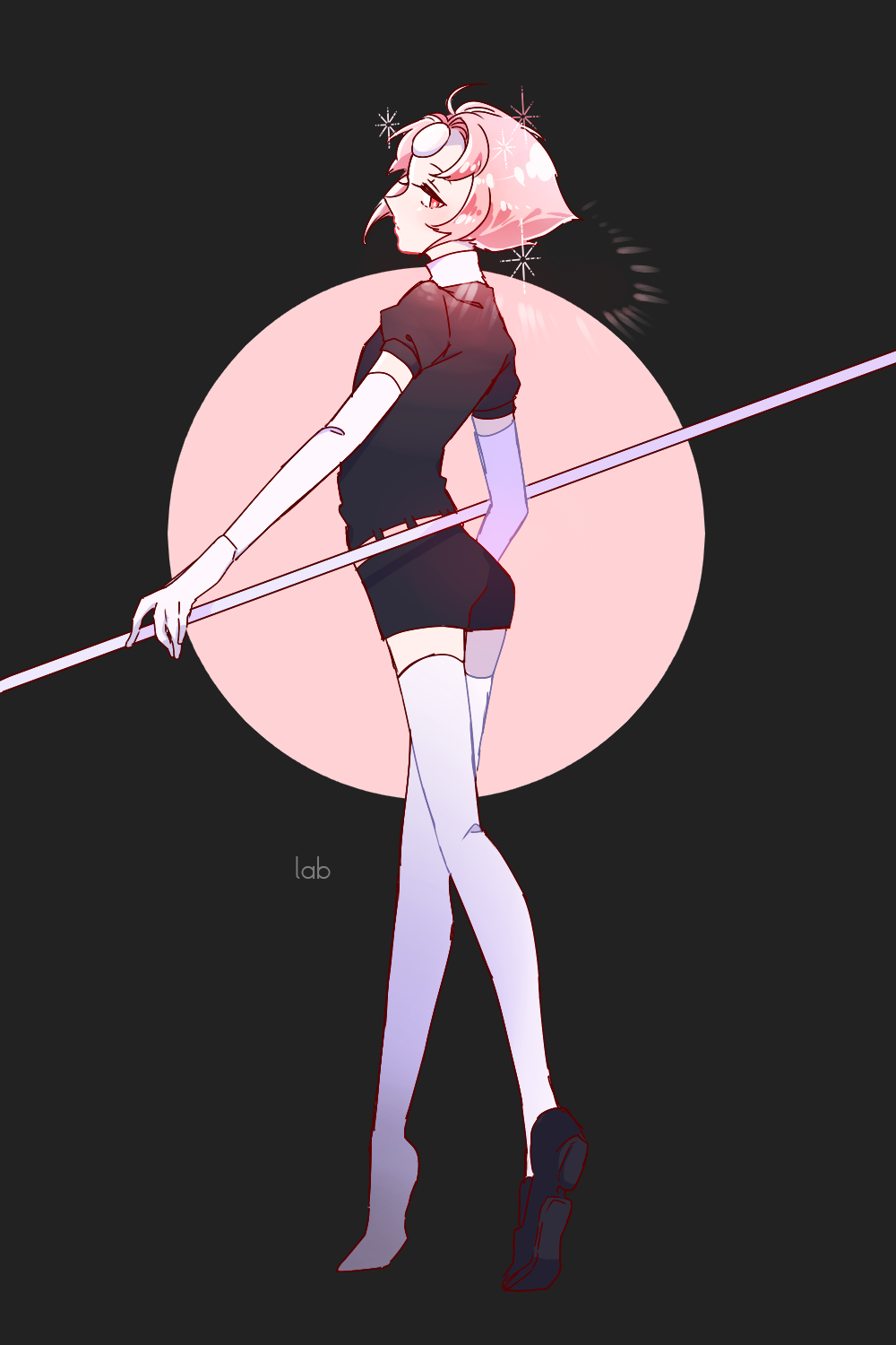 pearl in houseki no kuni uniform because it suits her so much ;o;;;