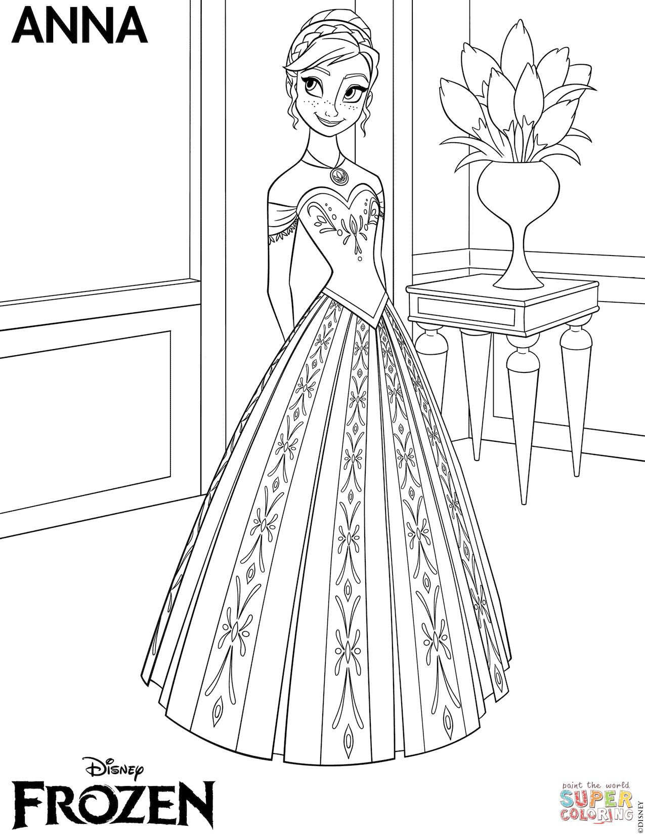 Coloring Pages Frozen Coloring Pages