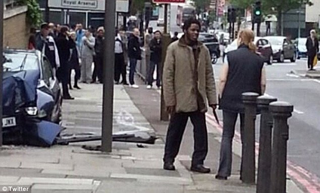 Dramatic: The incredible moment a female passer-by confronted a second knife-wielding murderer in London