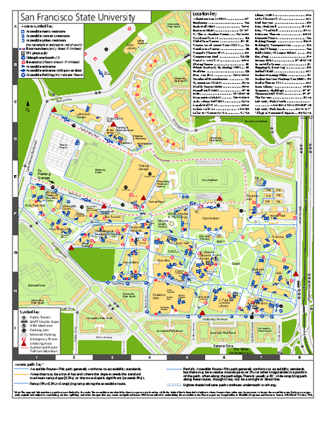 Sf State Campus Map University Of San Francisco Campus Map | World Map Gray