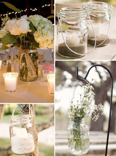 Beach Wedding Decoration Ideas Photograph   mason jar ideas