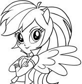 Disegni Di My Little Pony Equestria Girls Da Colorare