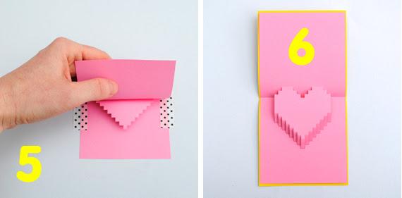 Pixely cartão pop-up