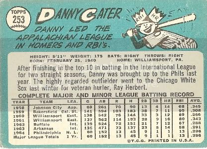 #253 Danny Cater (back)