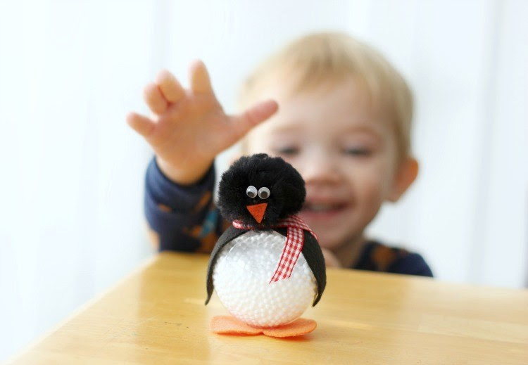 Making a Darling Penguin Craft Out of a Clear Ornament | Gluesticks