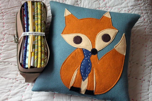 Mr. Fox & fabric for a friend! ;)