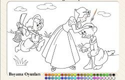 Keloğlan Ve Prenses Boyama Oyunu Oyna Keloğlan Oyunları