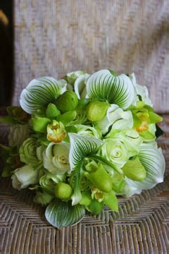 Vibrant Green: Exotic Orchids for a Winter Wedding   In