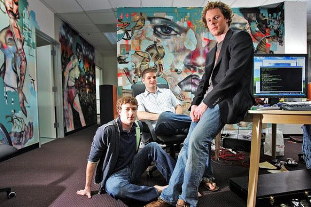 Mark Zuckerberg dan Sean Parker