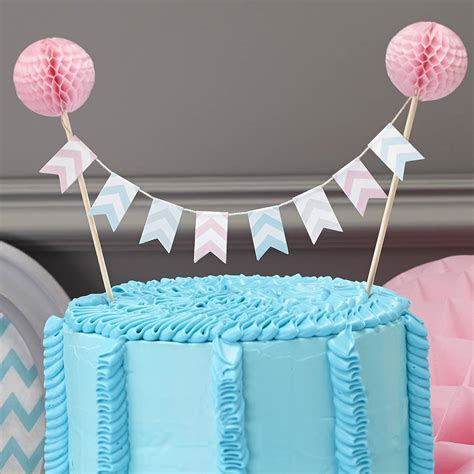 honeycomb chevron cake bunting topper by ginger ray