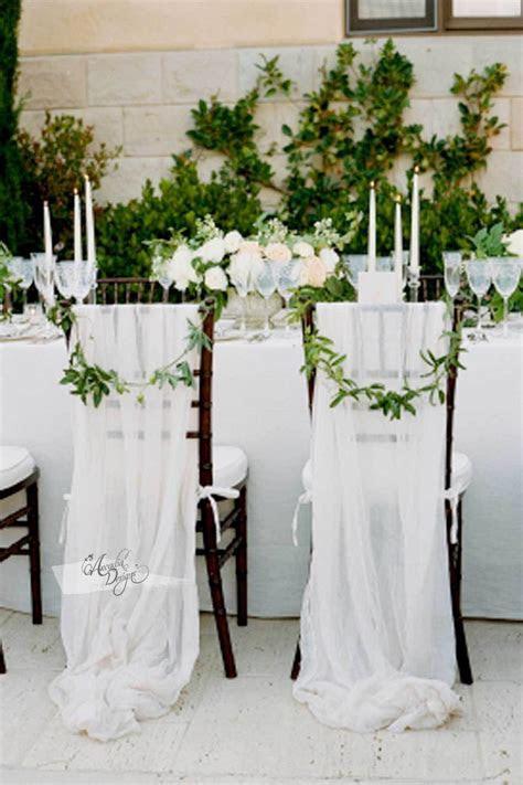 Braided Blush Pink Chiffon Chair Sash in 2019   wedding