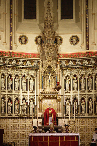 Cardinal Pell seated in the Oratory