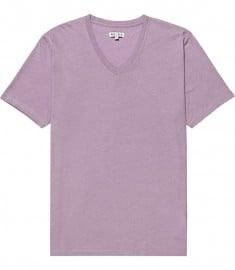 Reiss Dayton Short Sleeve Basic V-neck Tshirt Purple
