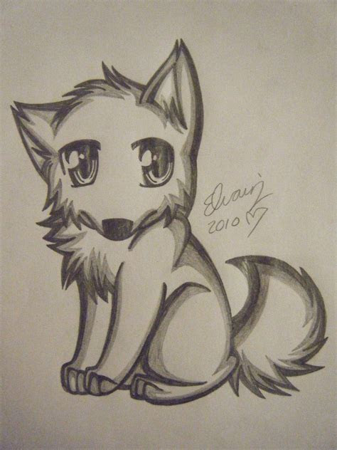 pencil drawings  anime wolf drawing   animefan