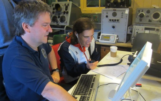 Pete M0PSX and Louise M3WSQ operating at Sandford Mill for IMD 2014