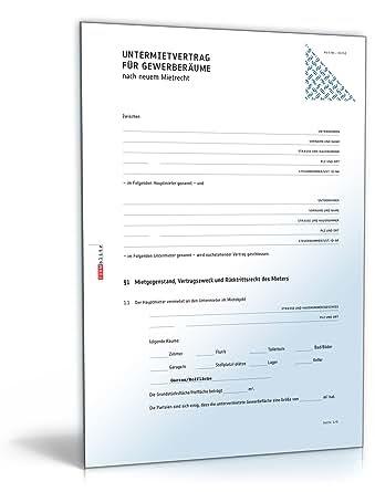 Versicherungen mietvertrag: Untermietvertrag pdf
