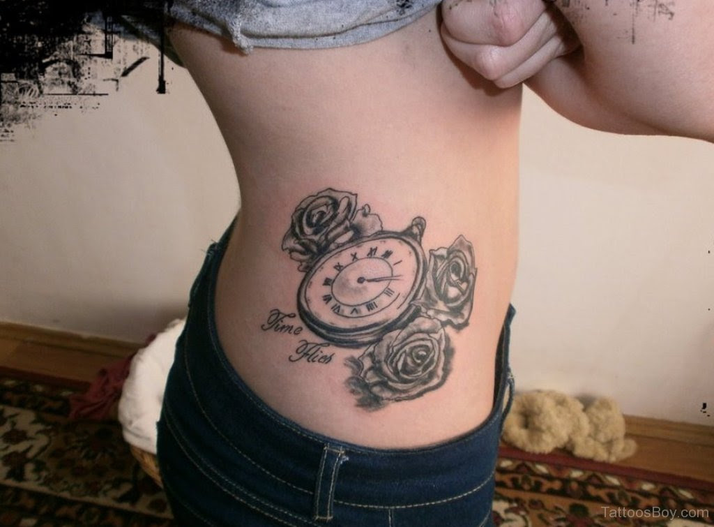 Clock And Rose Tattoo Tattoo Designs Tattoo Pictures