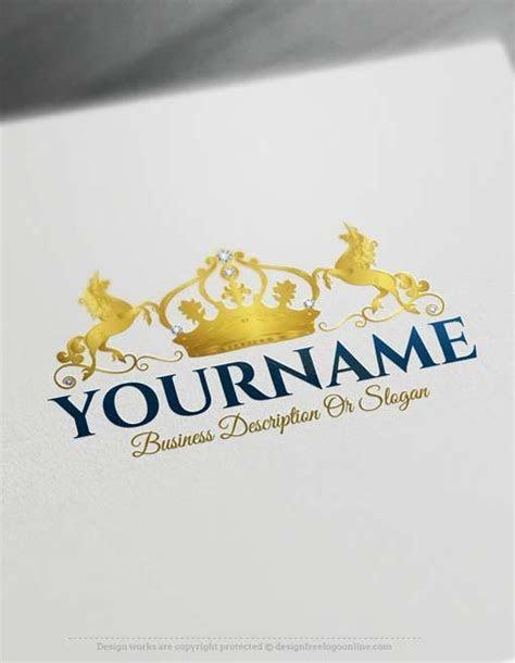 Free Logo Maker   Crown Unicorn Logo design   Design Free