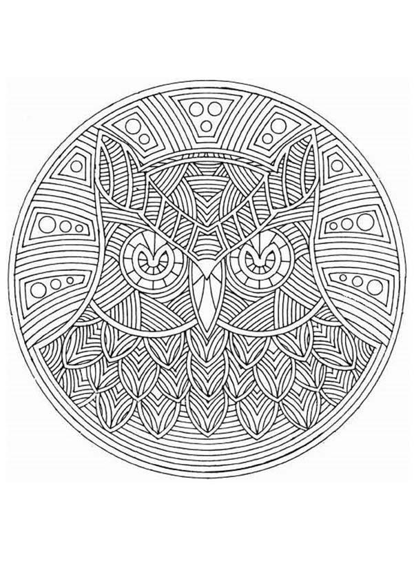 Dibujos Para Colorear Mandala Búho Eshellokidscom