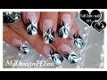 black and white nail art designs 18 25 Unique Black and White Nail Art