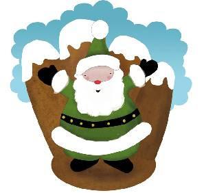 El verde era el color más utilizado para representar a Papá Noel