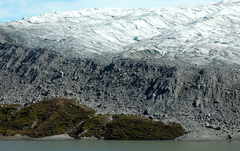 Photo of the edge of the Greenland ice sheet, near Kangerlussuaq