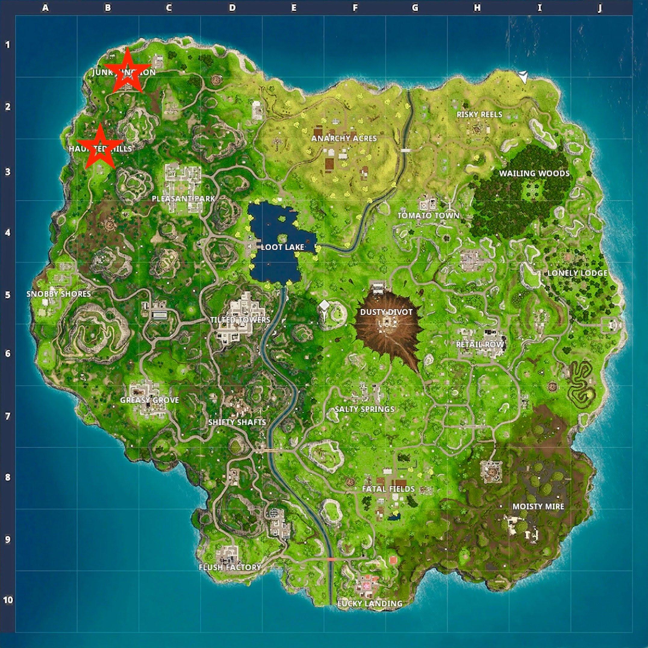 Fortnite - Haunted Hills Treasure Map Location - Guide ...