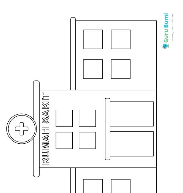 Mewarnai Gambar Rumah Sakit Untuk Anak Tk Gambar Mewarnai Rumah