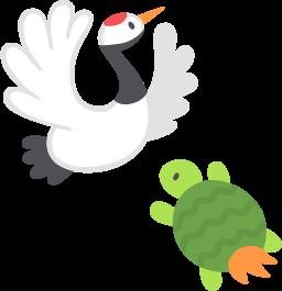 鶴と亀の無料ベクターイラスト素材 Picaboo ピカブー 無料