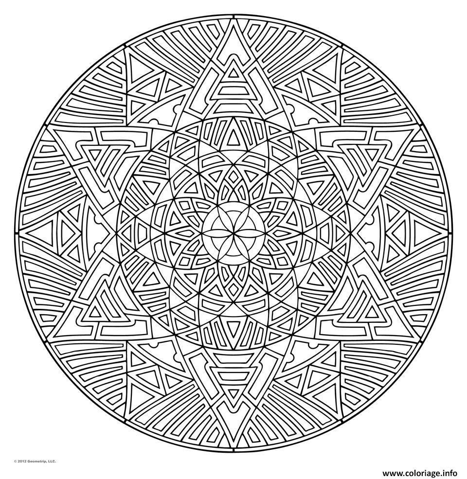 Coloriage Mandala Pour Adulte Art Therapie Dessin  Imprimer