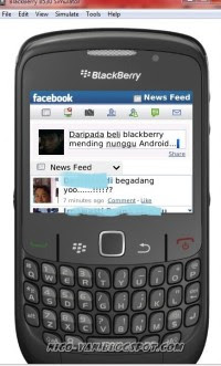 Update Status Via Facebook For Blackberry