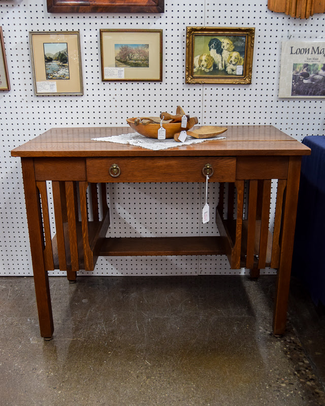Buy Arts Crafts Mission Library Desk And Other Antiques Southworks Antiques