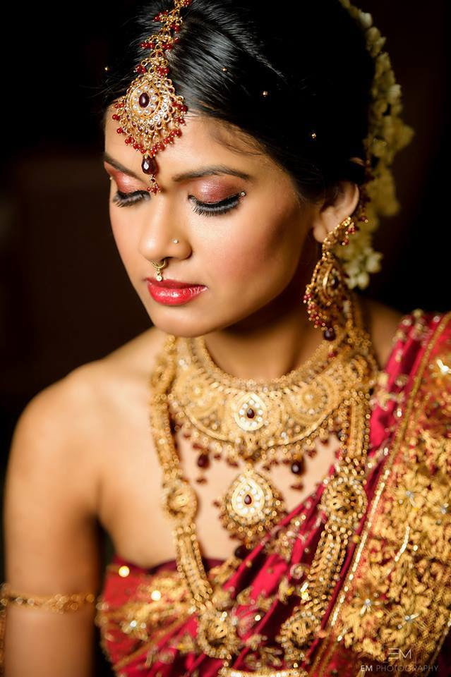 Bridal makeup pictures of south indian