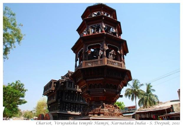 Chariot for God statue, Virupaksha temple, Hampi, India - S. Deepak, 2011
